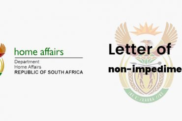 South Africa Letter of No Impediment